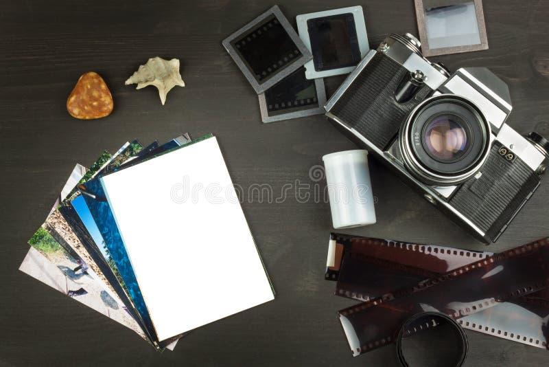 海边假日的老照片 老照相机 海的记忆 家庭册页照片 青年时期记忆  库存图片