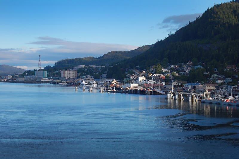 海边城镇 免版税库存照片