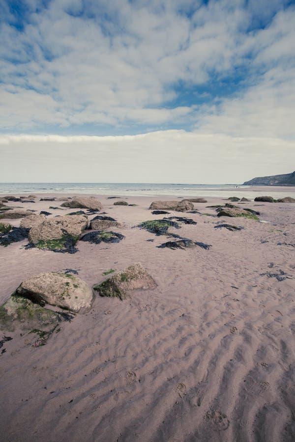 海边海滩场面纵向格式 tif 免版税图库摄影