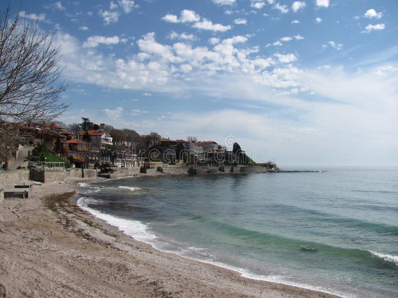 海边视图保加利亚 库存照片