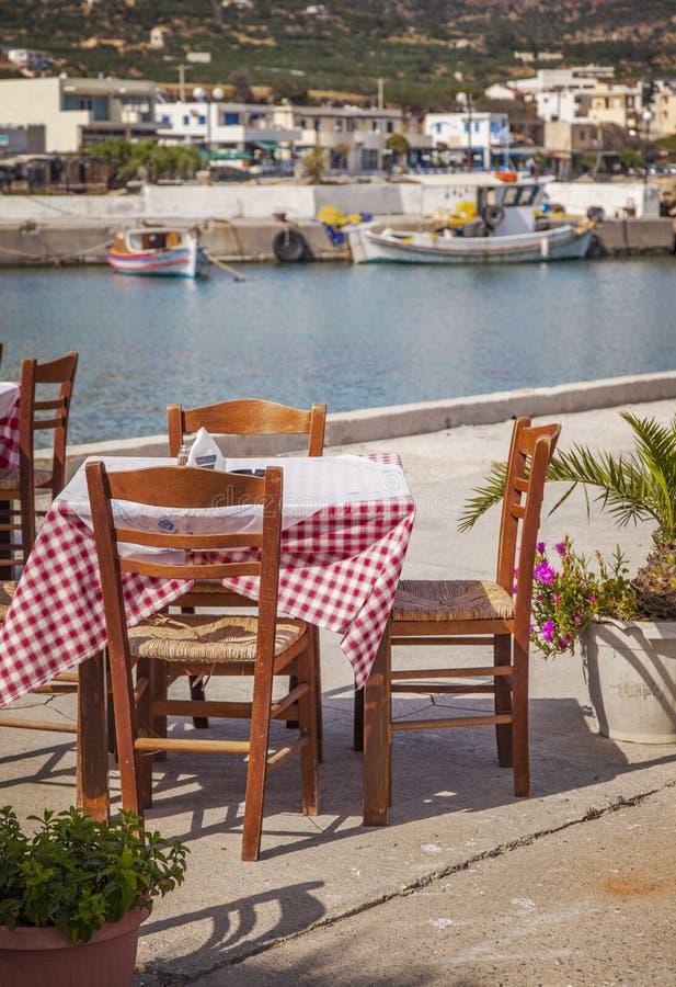 海边餐馆克利特 库存图片