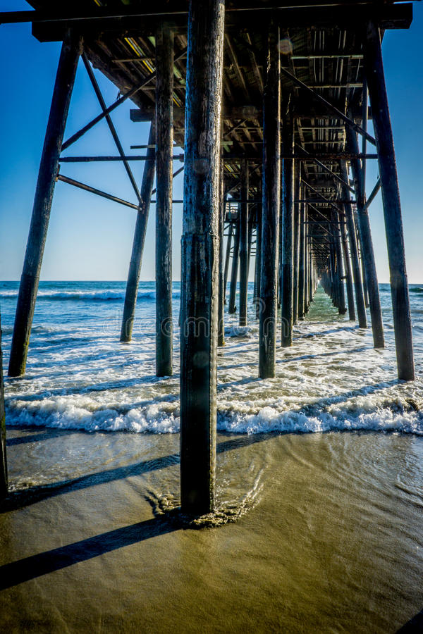 海边,加利福尼亚 免版税图库摄影