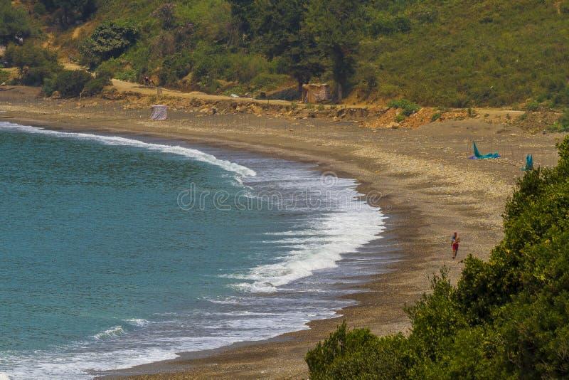 海边Jijel,阿尔及利亚 库存图片