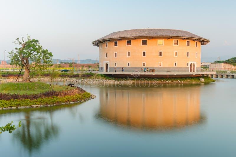 海达族Tulou结构在苗栗,台湾 免版税库存照片