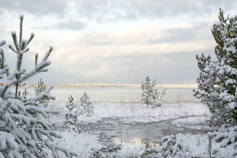 海运冬天 库存照片