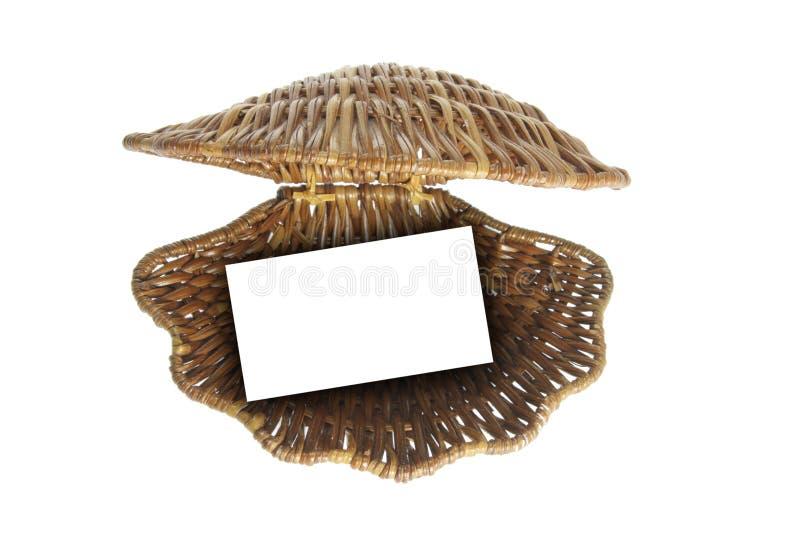 海运壳柳条制品 免版税库存图片