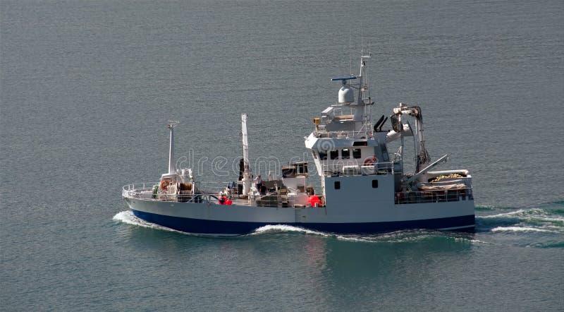 海运拖网渔船 图库摄影
