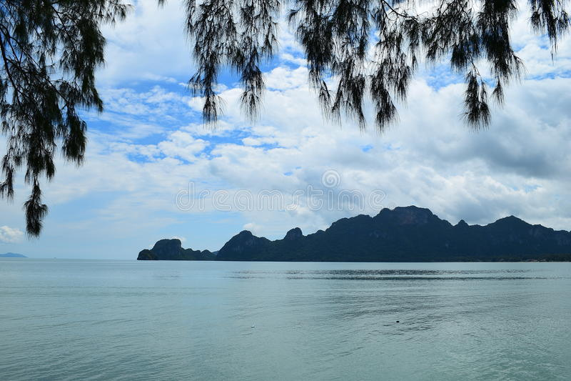 海运泰国视图 库存照片