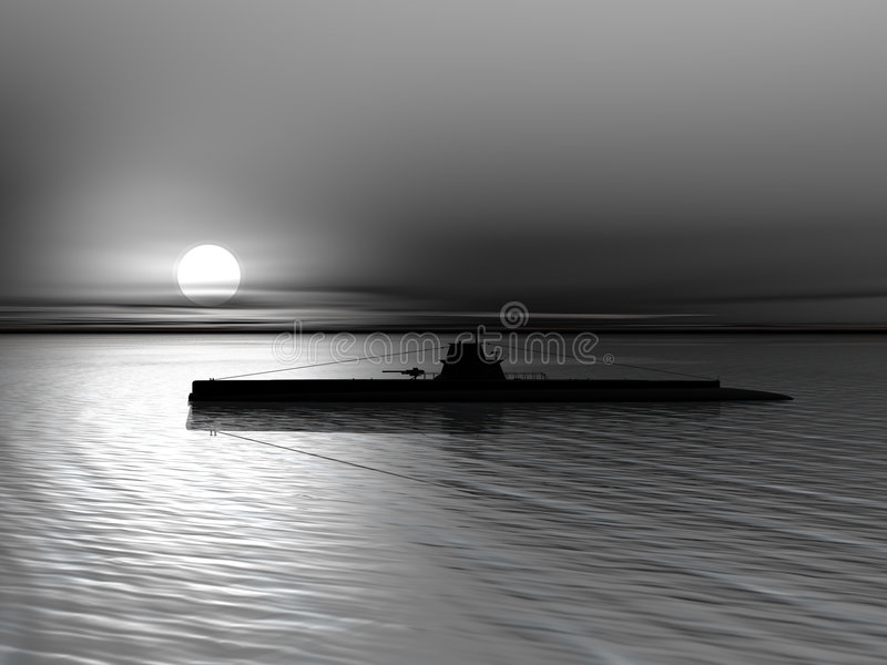 海运潜水艇 皇族释放例证