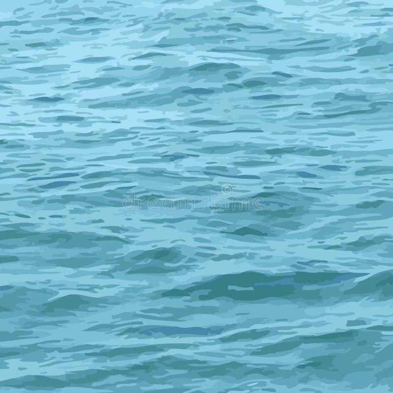 海运纹理水 皇族释放例证