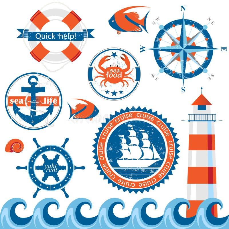 海运象征 向量例证