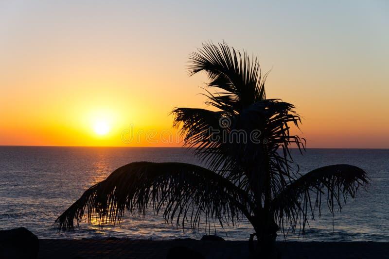 海运sunner日落时间 免版税库存照片