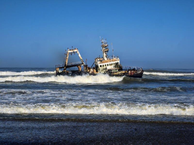 海难击毁,纳米比亚海岸 库存照片