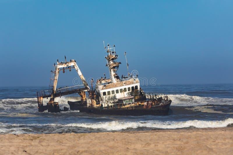 海难塞拉- Hentiesbaai最基本的海岸,纳米比亚非洲 库存照片