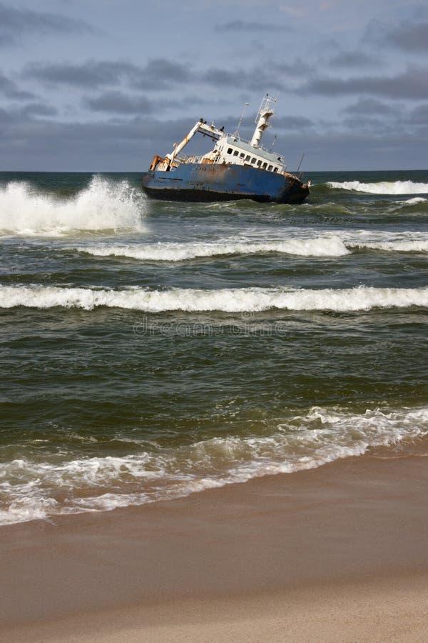 海难-概要海岸-纳米比亚 免版税图库摄影