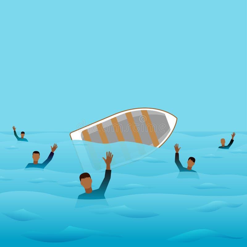 Download 海难 向量例证. 插画 包括有 抢救, 小船, 风险, 工艺, 水槽, 地中海, 抽象, 难民, 淹没, 概念 - 59107924