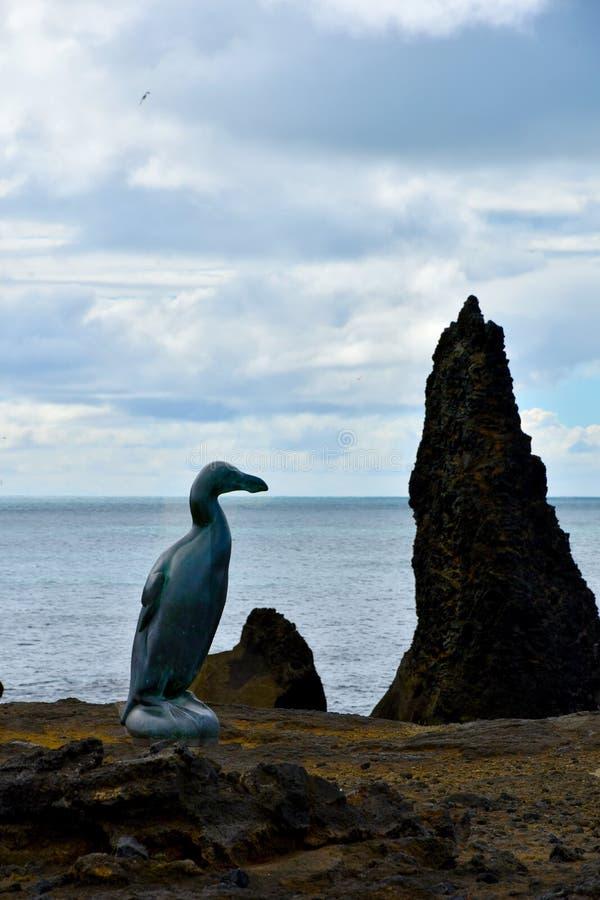 海雀雕塑 库存照片