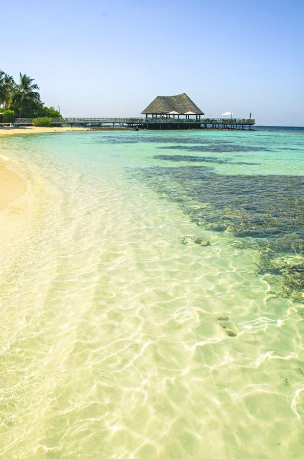 海颜色在马尔代夫 库存照片