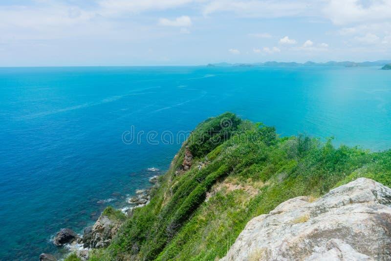 海风景酸值西康省泰国 免版税库存图片