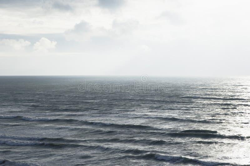 海风景高的视图 图库摄影