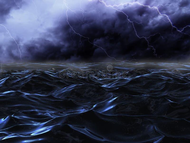 海风暴 库存例证