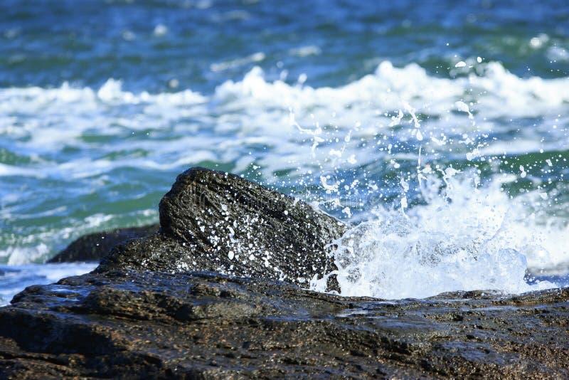 海飞溅 免版税库存图片