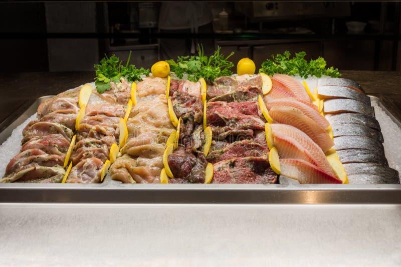 海鲜和肉 免版税图库摄影