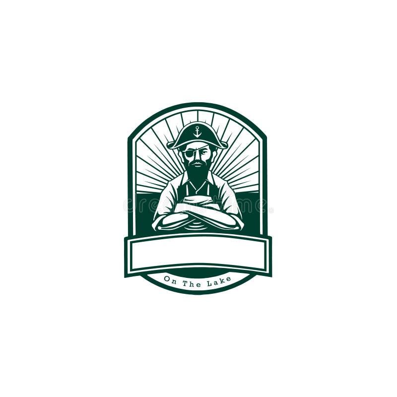 海鲜商标徽章 库存图片