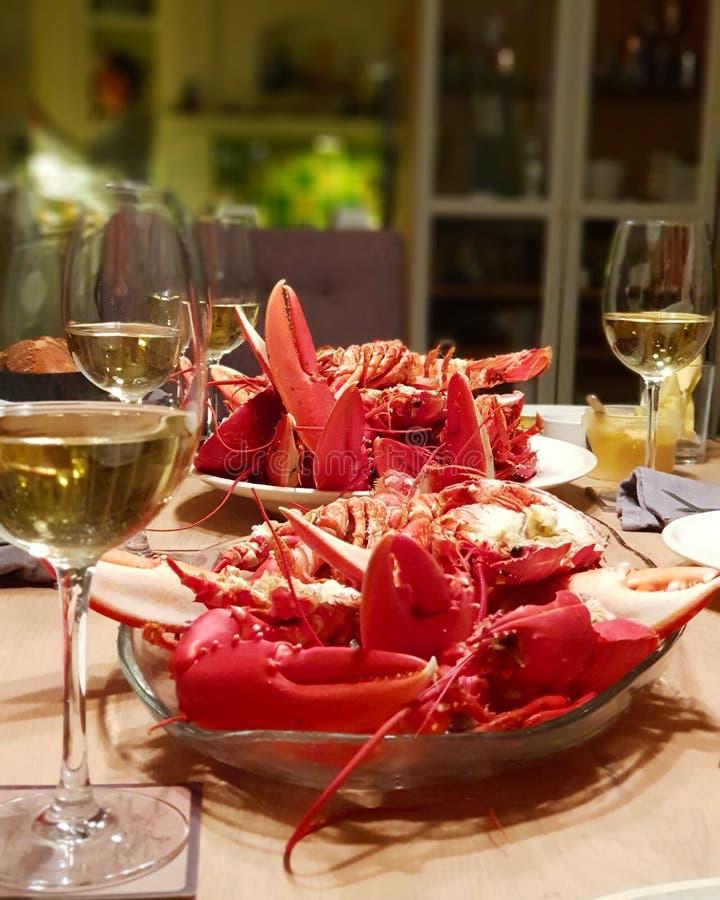 海鲜晚餐 库存图片