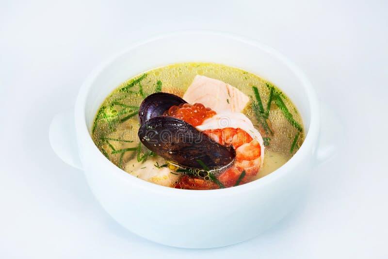 海鲜杂烩,虾,牡蛎,鱼子酱 库存图片
