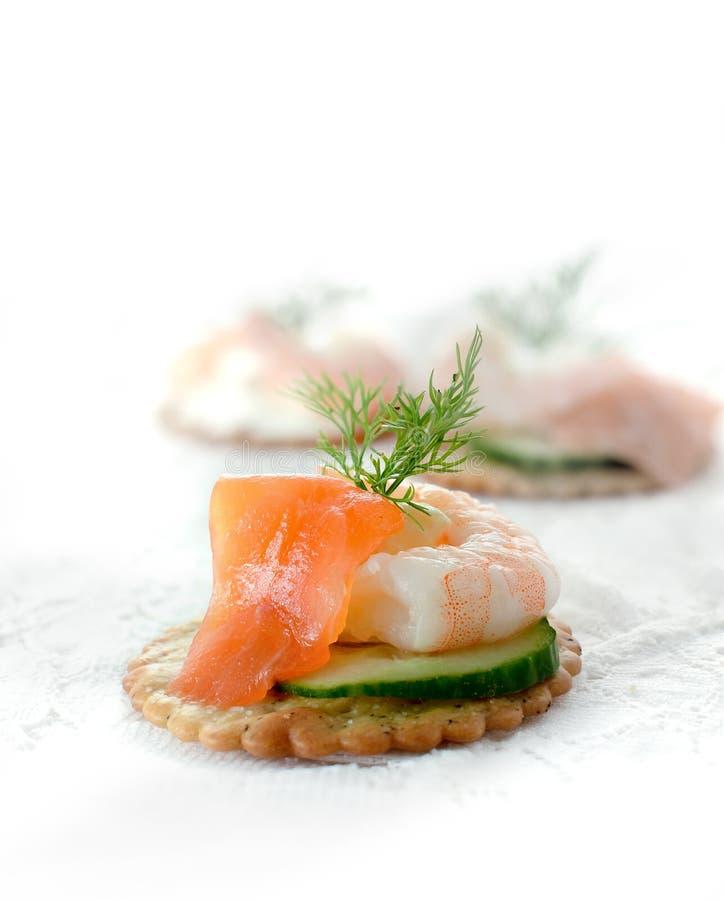 海鲜沙拉点心 库存照片
