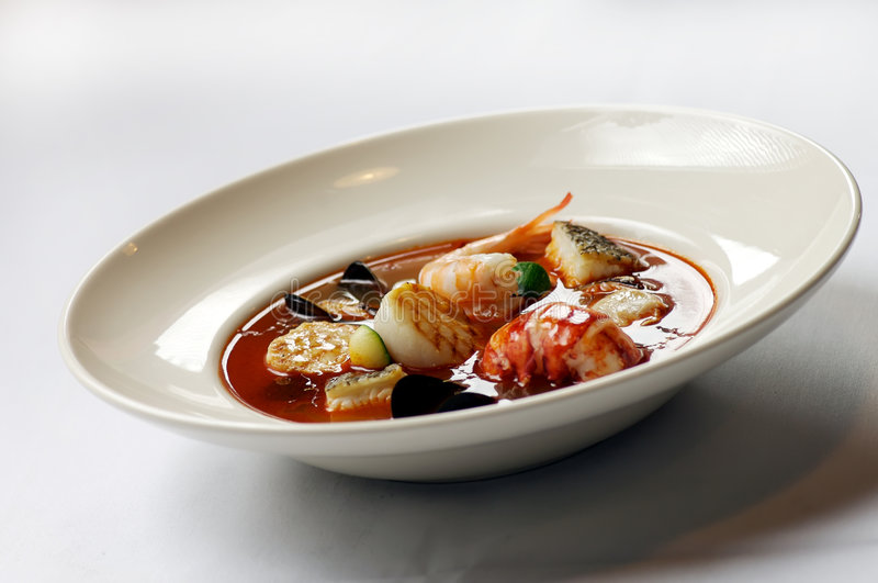 海鲜炖煮的食物 免版税图库摄影