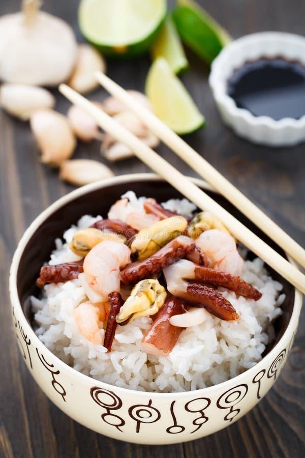 海鲜米 免版税图库摄影