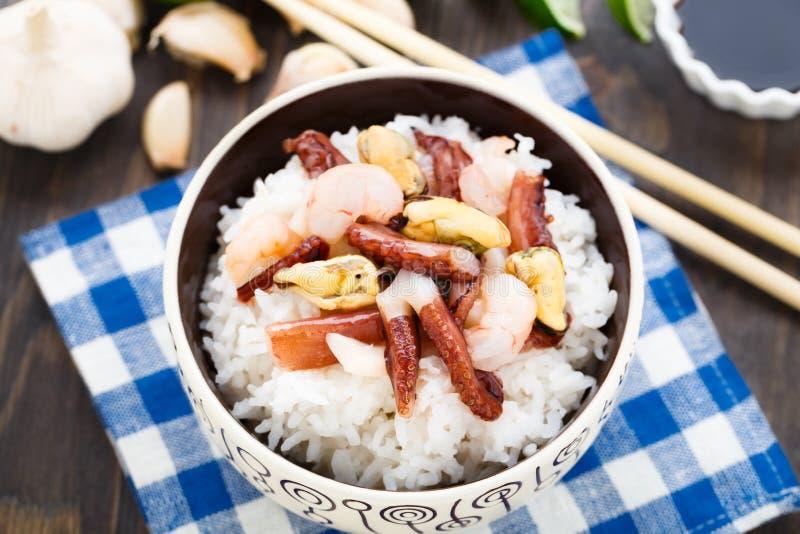 海鲜米 库存照片