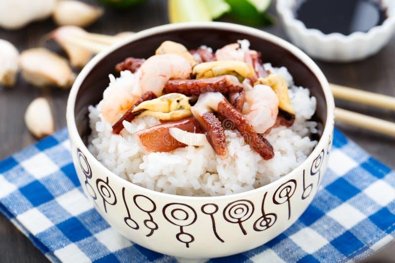 海鲜米 图库摄影