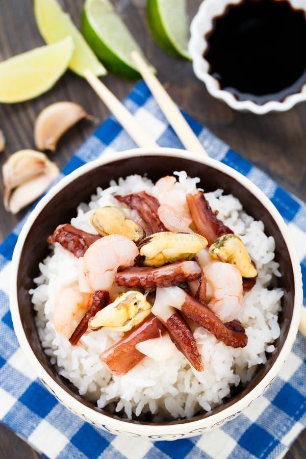 海鲜米 免版税库存图片