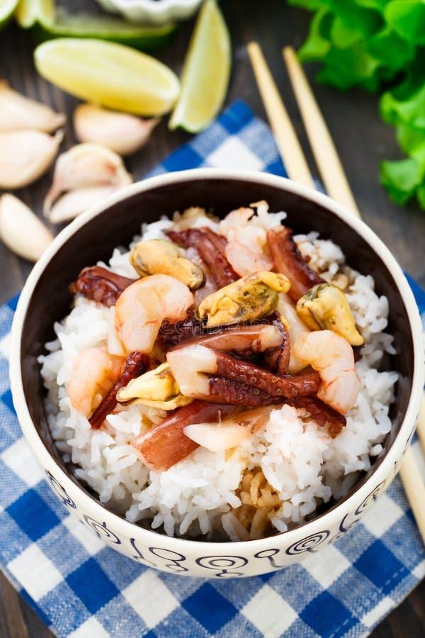 海鲜米 库存图片