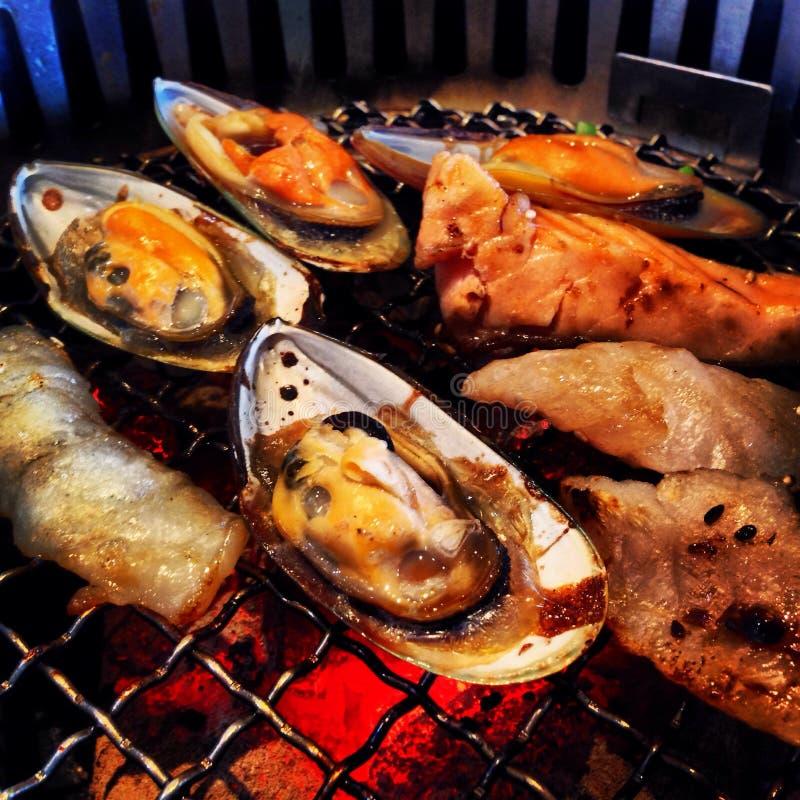 海鲜BBQ 免版税图库摄影