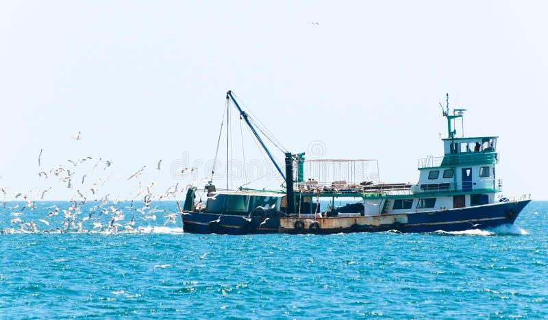 捕鱼船 免版税库存图片