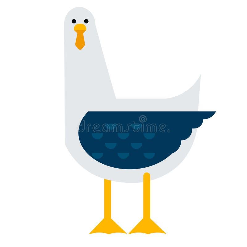 海鸥平的例证 皇族释放例证
