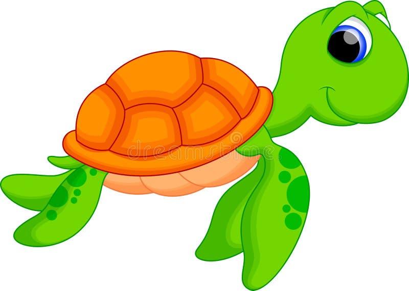 海龟动画片 库存例证