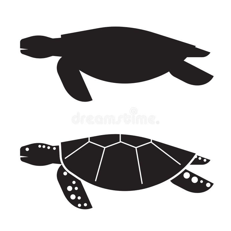 海龟概述象或商标 向量例证