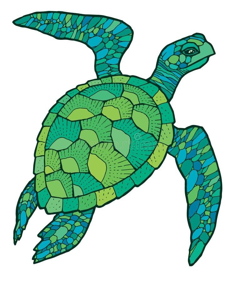 海龟-传染媒介风格化图画 皇族释放例证