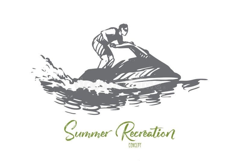 海,夏天,水,与氢结合的周期,活动概念 r 库存例证