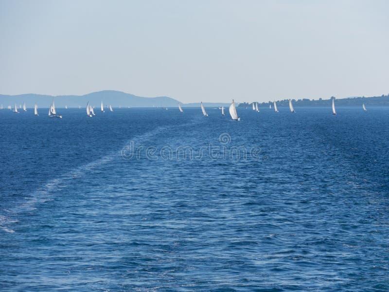 海,游艇,赛船会 免版税图库摄影