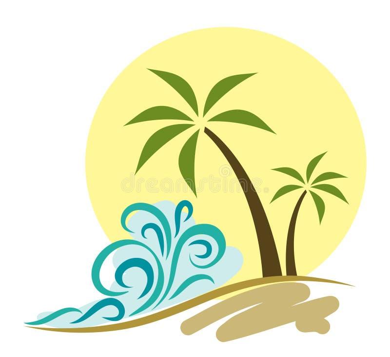 海滩例证 皇族释放例证