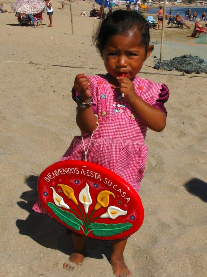 年轻海滩供营商 库存照片