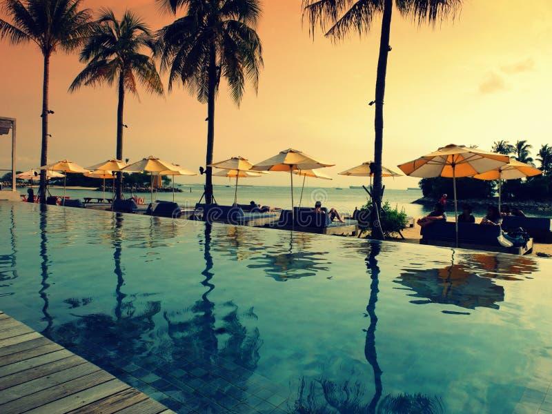 海滩俱乐部在新加坡 免版税库存图片