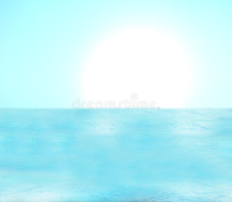 水海洋假日 库存例证