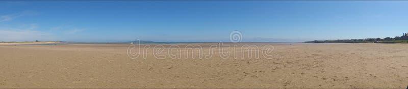 海滩全景 库存照片